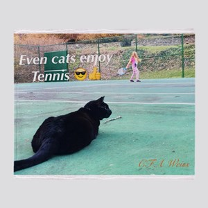 Tennis Cat Throw Blanket